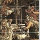 Botticelli Religious Mural Tile Room Ideas Renovations Commercial