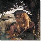 Botticelli Religious Wall Backsplash Mural Design Interior Modern