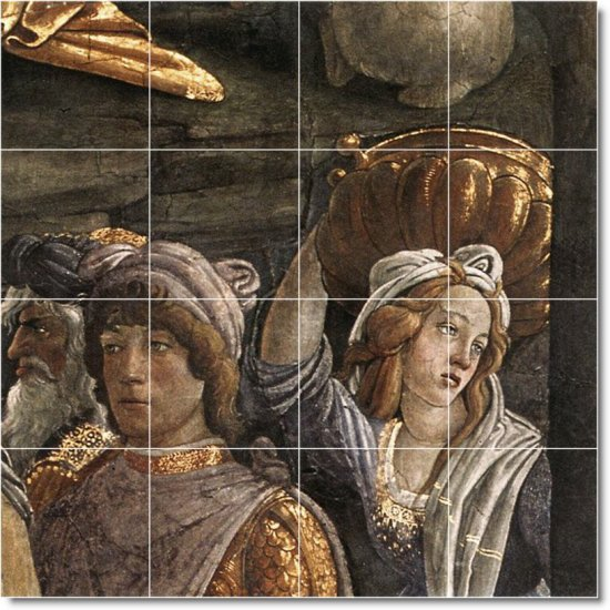 Botticelli Religious Mural Bedroom Tile Interior Ideas Decorating
