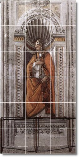Botticelli Historical Bathroom Tile Mural Traditional Renovate