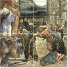 Botticelli Historical Wall Room Tiles Mural Modern Home Design