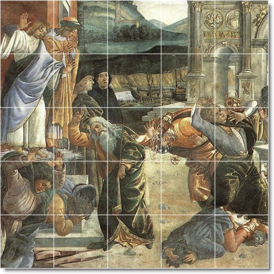 Botticelli Historical Wall Mural Room Tiles Modern Design Home
