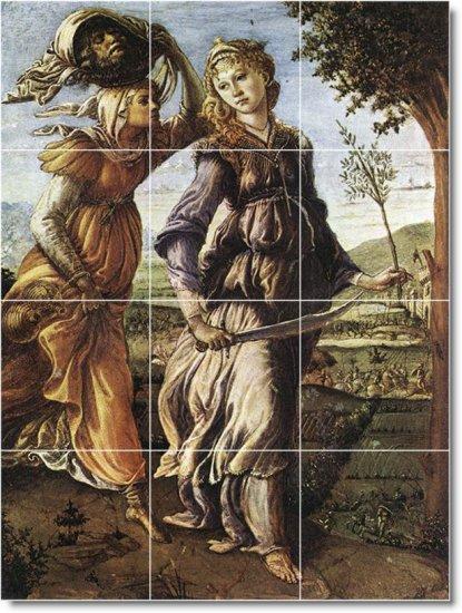 Botticelli Mythology Room Tile Mural Dining Home Remodeling Ideas
