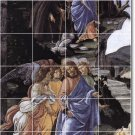 Botticelli Religious Room Mural Tile Dining Remodeling Home Ideas