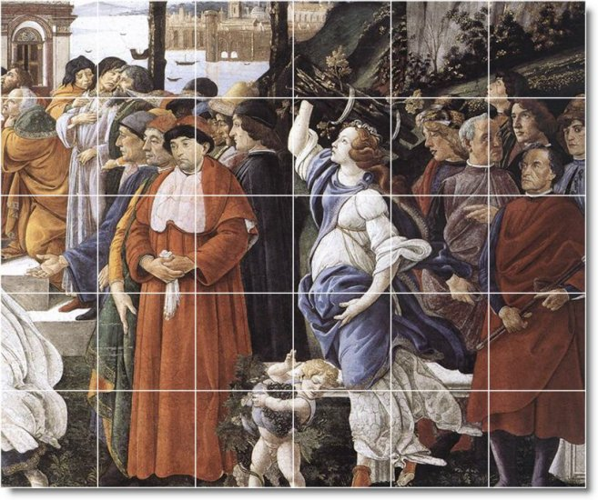 Botticelli Religious Tile Dining Mural Room Ideas Home Remodeling