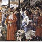 Botticelli Religious Tile Dining Mural Room Ideas Home Remodeling