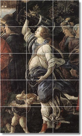 Botticelli Religious Tile Room Dining Mural Ideas Remodeling Home