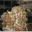 Botticelli Religious Shower Tile Wall Home Remodeling Design Idea
