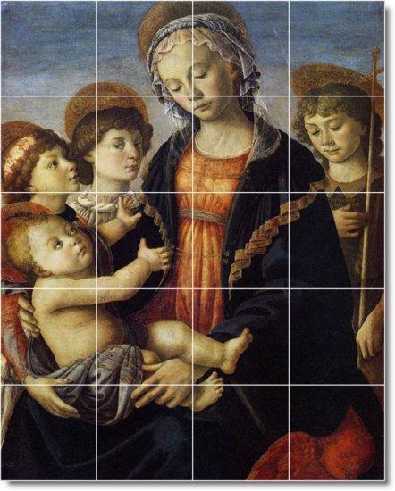 Botticelli Religious Wall Shower Tile Home Remodeling Idea Design