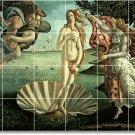 Botticelli Mythology Tile Shower Wall Home Design Idea Remodeling