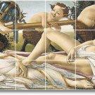 Botticelli Mythology Tile Wall Shower Home Idea Remodeling Design