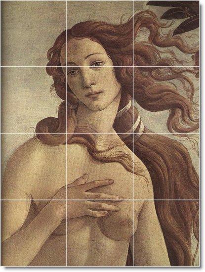 Botticelli Mythology Wall Shower Bathroom Tiles Renovations Ideas