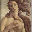 Botticelli Mythology Wall Shower Bathroom Tiles Renovations Ideas