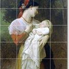 Bouguereau Mother Child Dining Tiles Room Mural Decor Commercial