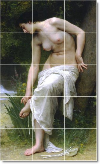 Bouguereau Nudes Wall Murals Tile Bedroom Home Ideas Decorating
