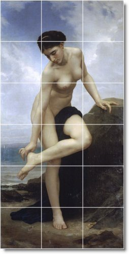 Bouguereau Nudes Murals Bedroom Tile Wall Decorating Home Ideas