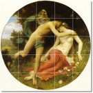 Bouguereau Mythology Tile Floor Kitchen Traditional Decorate Home