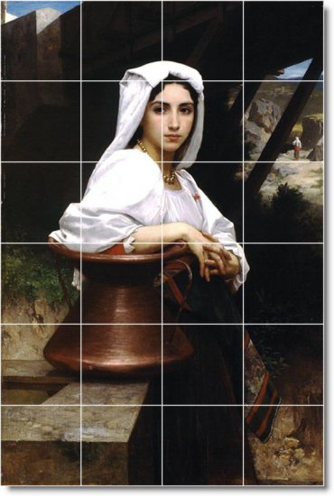 Bouguereau Women Room Tiles Floor Modern Interior Construction