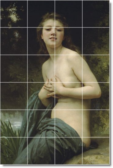 Bouguereau Nudes Tiles Room Floor Interior Construction Modern