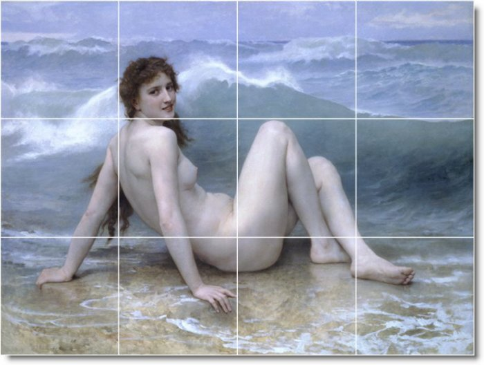 Bouguereau Nudes Backsplash Mural Tile Kitchen Art Residential