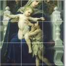 Bouguereau Mother Child Mural Bathroom Tile Renovate Traditional