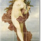 Bouguereau Nudes Mural Dining Tile Room Ideas House Remodeling