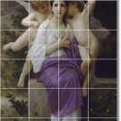 Bouguereau Angels Tiles Backsplash Wall Decorating Ideas Interior