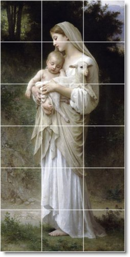 Bouguereau Mother Child Room Murals Dining Wall Home Decor Decor