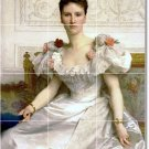 Bouguereau Women Living Mural Room Tile Ideas Remodel Interior