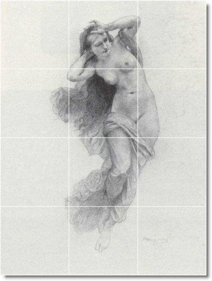 Bouguereau Illustration Backsplash Tile Wall Murals Design House