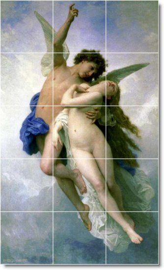 Bouguereau Mythology Backsplash Kitchen Wall Idea Home Remodeling