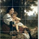 Bouguereau Mother Child Mural Tiles Living Wall Room Design Home