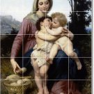 Bouguereau Mother Child Dining Tile Wall Room Mural Home Remodel
