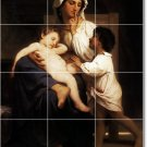 Bouguereau Mother Child Dining Tile Wall Mural Room Remodel Home