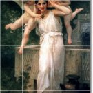 Bouguereau Angels Tiles Dining Room Construction Idea Design Home