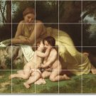 Bouguereau Mother Child Shower Tile Home Contemporary Remodeling