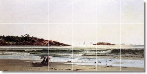 Bricher Waterfront Room Mural Dining Tile Modern Renovate Home