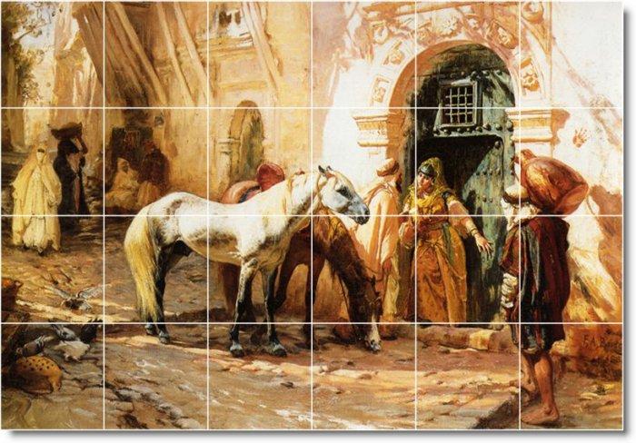 Bridgman Horses Dining Murals Tile Room Wall Construction Ideas