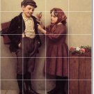 Brown Children Wall Mural Bedroom Tiles Renovate Traditional Home