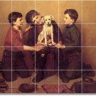 Brown Animals Backsplash Mural Kitchen Tile Design House Modern