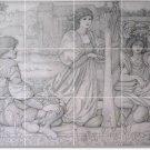 Burne-Jones Illustration Murals Wall Bedroom Tile Art Home