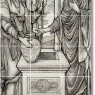 Burne-Jones Illustration Mural Dining Room Residential Art