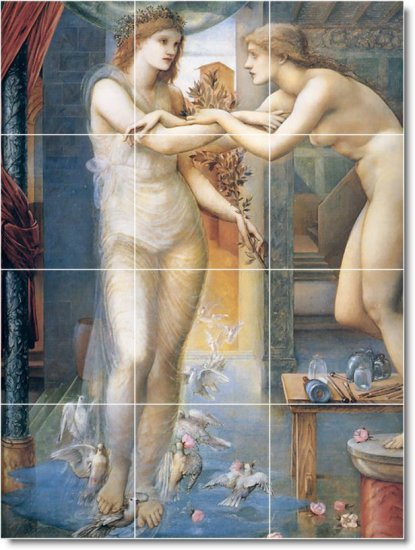 Burne-Jones Mythology Mural Living Tiles Room Wall Decor Floor