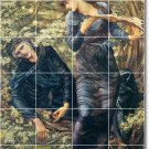 Burne-Jones Mythology Mural Wall Tiles Room Living Traditional