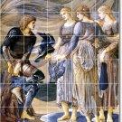 Burne-Jones Mythology Mural Tiles Living Wall Room Design Home