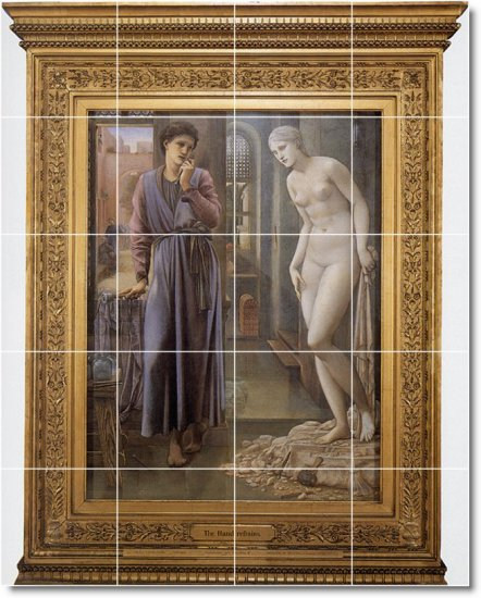 Burne-Jones Mythology Dining Tile Wall Mural Room Remodel Home