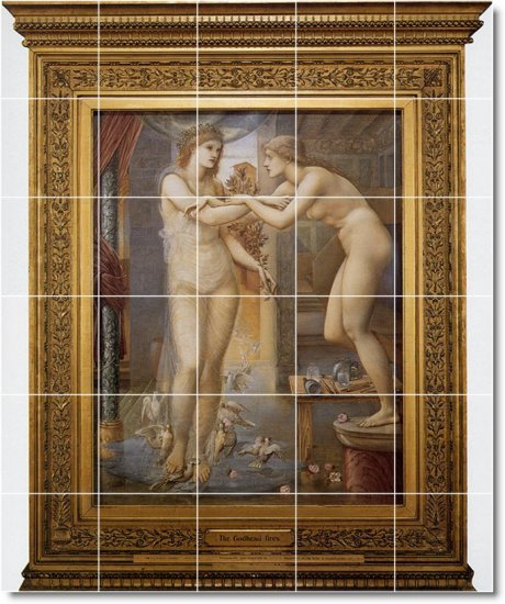Burne-Jones Mythology Tile Dining Wall Room Mural Construction