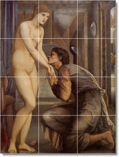 Burne-Jones Nudes Room Wall Mural Remodeling Interior Traditional