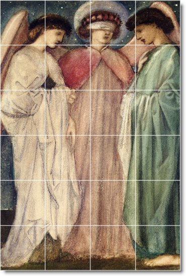 Burne-Jones Angels Mural Room Dining Floor Modern Design Home