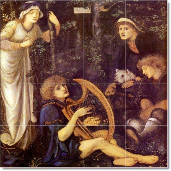 Burne-Jones Mythology Tile Shower Home Remodeling Contemporary